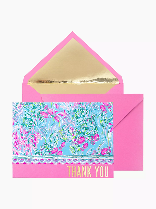 Lilly Pulitzer Thank You Note Set - Best Fishes 215802