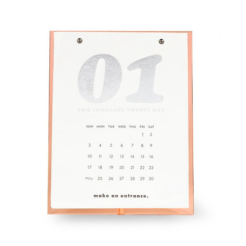 kate spade new york desktop calendar, coral