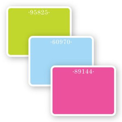 Zip Code Flat Notecards