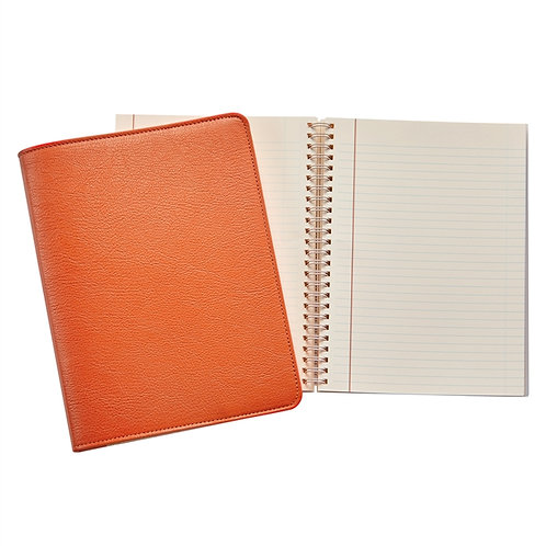 "9"" Wire-O-Notebook  Goatskin Leather - JS9-GTI"