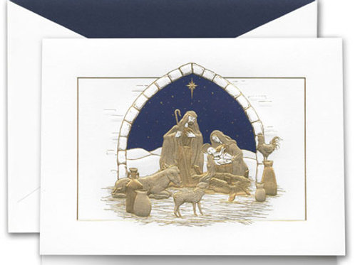 Crane & Co PEACEFUL MANGER GREETING CARD
