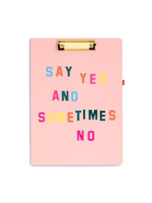 Clip Board Folio, Say Yes