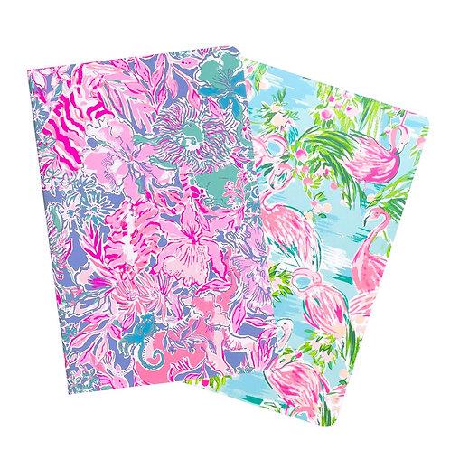 Lilly Pulitzer pocket notebook set, floridita/viva la lilly