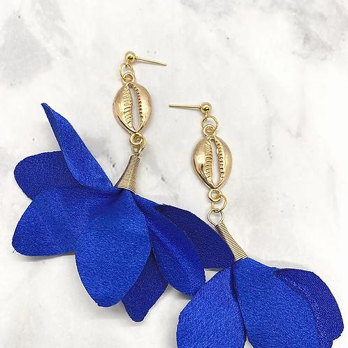 Whimsical Black Girl True Blue Trumpet Earrings