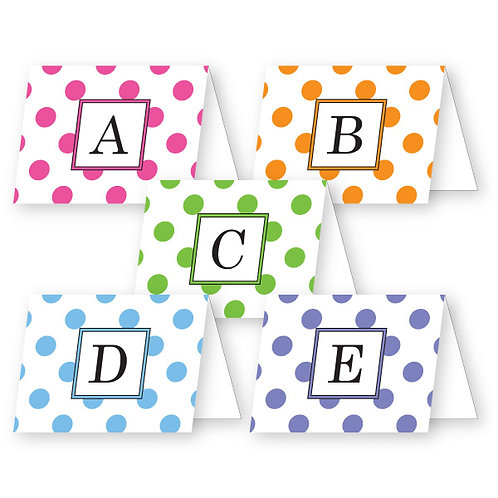 Dots Initial Foldover Notecards
