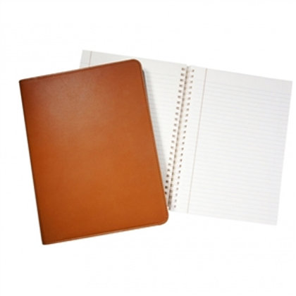 """9"""" Wire-O-Notebook Traditional Leather - JS9 TR1"""