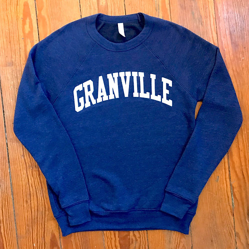 Discontinued Navy Blue and White Granville Crew
