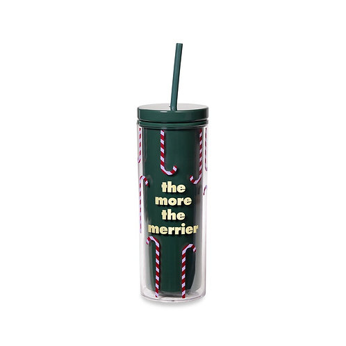 Kate Spade New York Tumbler with Straw, The More the Merrier