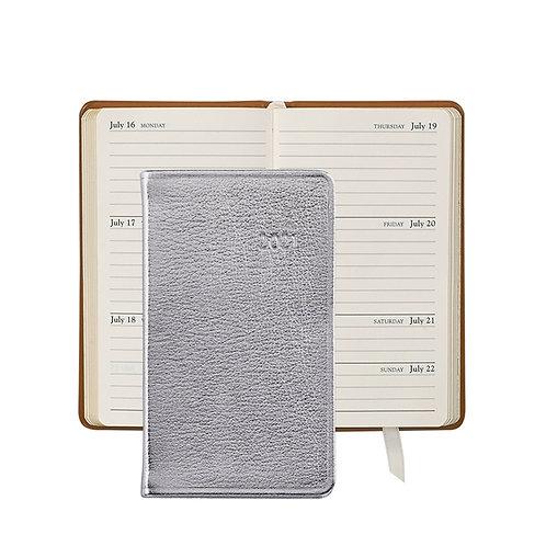 "2021 5"" Pocket Datebook Silver Metallics Leather - PJ5-GTI"