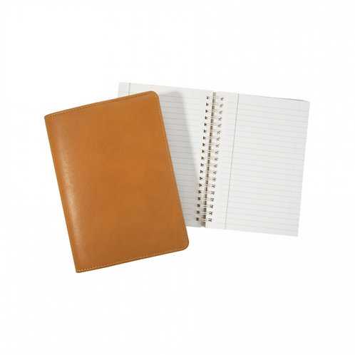 """7"""" Wire-O-Notebook Traditional Leather - JS7 TR1"""