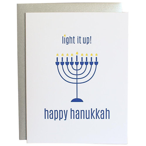 Light It Up Letter Press Card