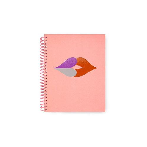 kate spade new york spiral notebook, heart lips