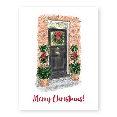 Merry Christmas (decorated door)