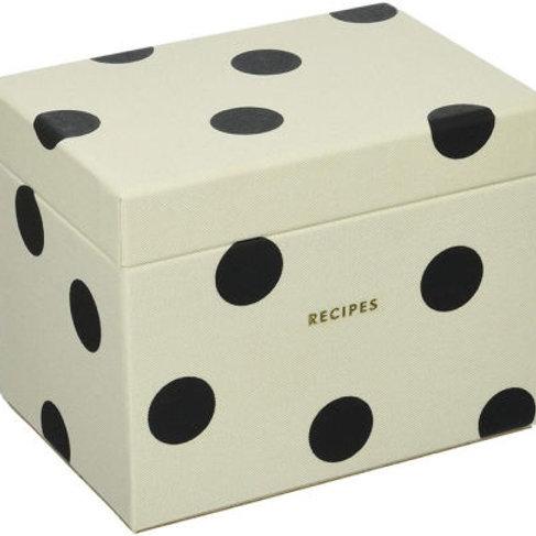 Kate Spade Recipe Box, Deco Dot