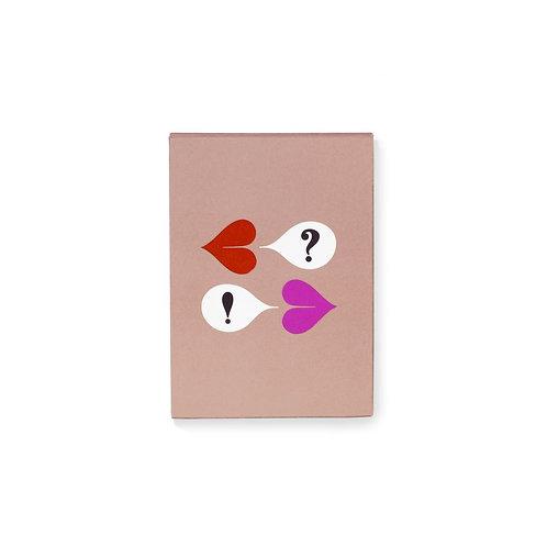 kate spade new york desktop notepad, heart lips