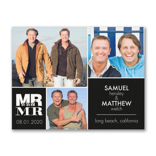 Carlson Craft  Mr. and Mr. Square - Photo Save the Date