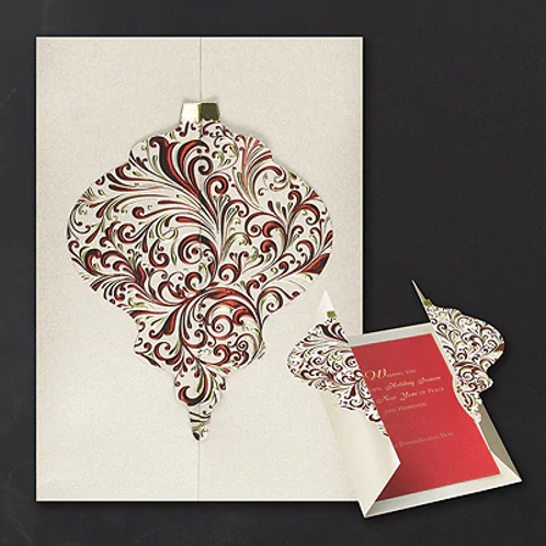 Ornate Ornament Holiday Card YME1231