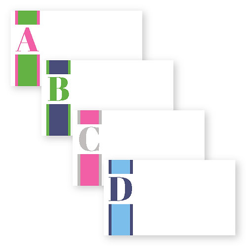 Statement Striped Initial Enclosure Cards