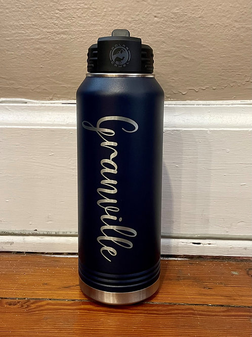 32oz Granville Navy Polar Sports Bottle