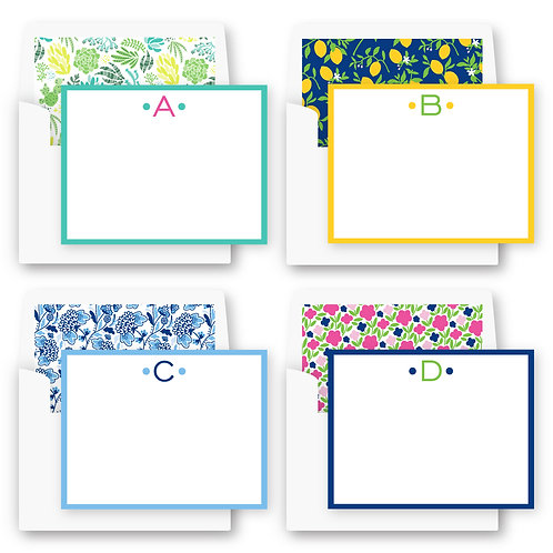 Boxed and Lined Flat Notecards
