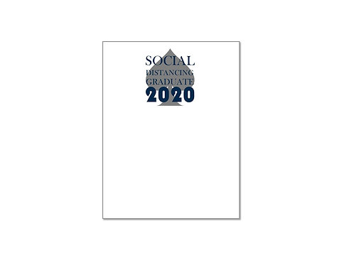 Social Distancing Class of 2020 Notepad