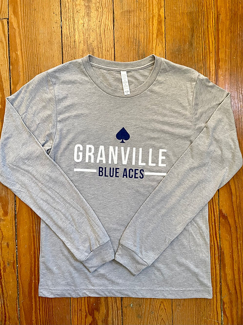 Discontinued 587 Gray Blue Aces Long Sleeve