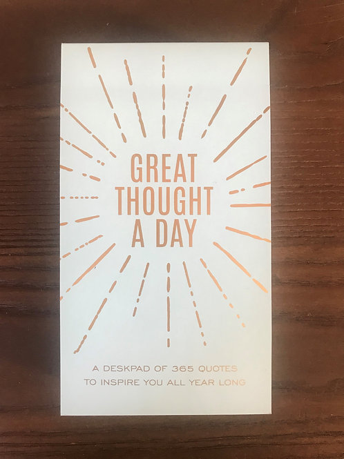 Eccolo Great Thought A Day Pad - Sage & Gold