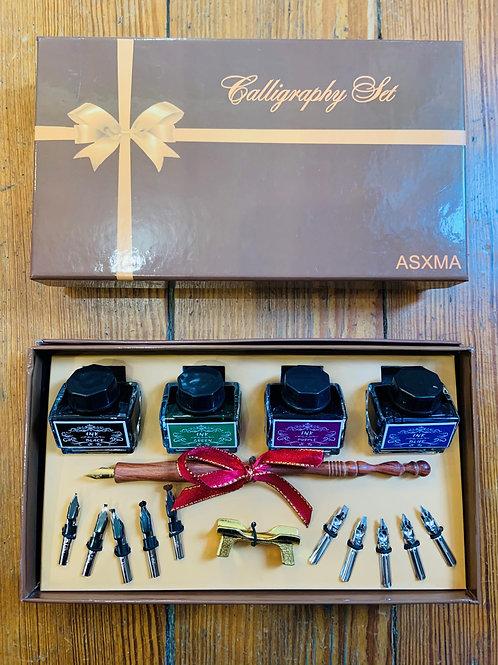 Wooden Calligraphy Pen Gift Set