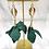 Thumbnail: Whimsical Black Girl Forest Green Trumpet Earrings