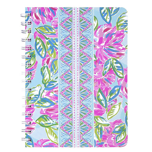 Lilly Pulitzer mini notebook, totally blossom