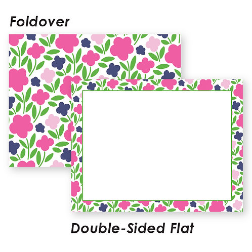 Pink and Navy Traditional Floral Boutique Box
