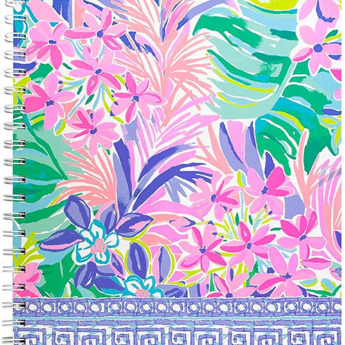 "Lilly Pulitzer Large Hardcover Spiral Notebook, 11"" x 9.5"" with 160 College Rule"
