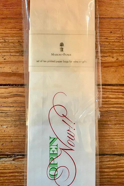 Wine or Gift Maison de Papier Printed Paper Bags