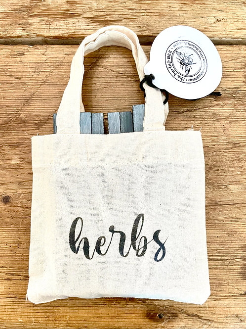 The Burlap Bee- Set of 7 Herb Markers