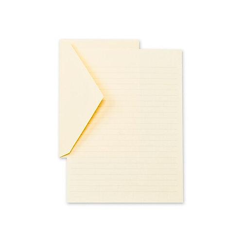 Ecruwhite Ruled Half Sheets