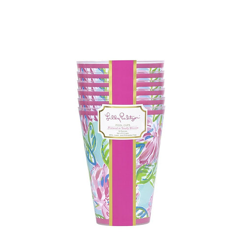 lilly pulitzer pool cups, totally blossom