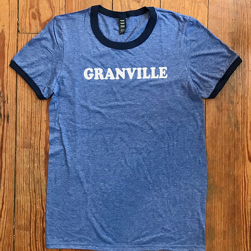 587 Blue and Navy Lined  Granville Tee