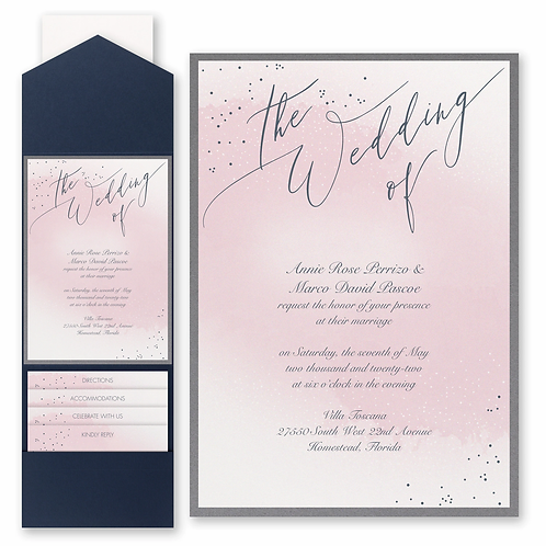 Champagne Wedding with Pocket and Backer - FBN56826A