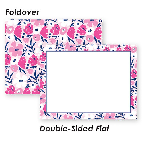 Pink and Navy Funky Floral Boutique Box