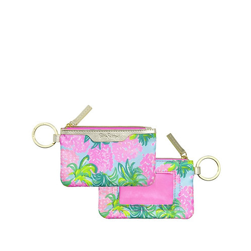 lilly pulitzer id case, pineapple shake