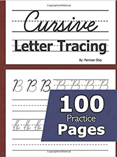 Cursive Letter Tracing Book