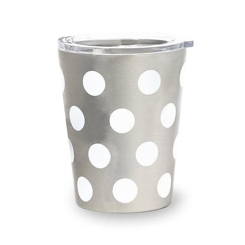 kate spade new york stainless steel 12oz tumbler, white dot