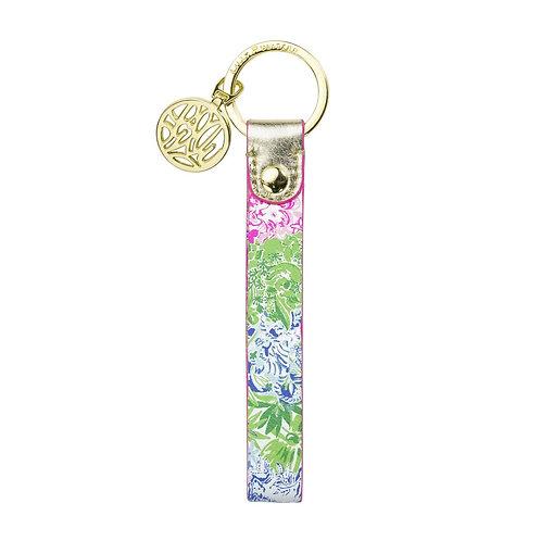 lilly pulitzer strap keyfob, cheek to cheek