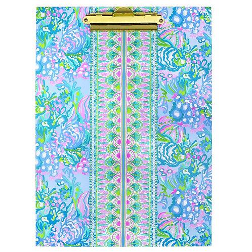 lilly pulitzer clipboard folio, aqua la vista