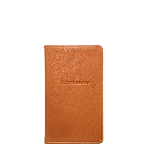 "5"" Pocket Address Book Traditional Leather - AB5-TR1"