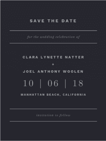 Envelopments - Young Love Save the Date