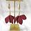 Thumbnail: Whimsical Black Girl Burgundy Trumpet Earrings