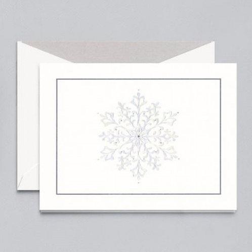 Crane & Co William Arthur Glistening Snowflake Holiday Greeting Cards