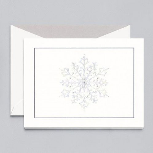 William Arthur - B71058V Glistening Snowflake Greeting Card