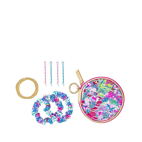 lilly pulitzer resort sport hair tie kit, beach you to it